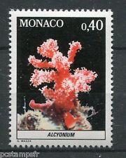 MONACO 1980, timbre 1258, POISSONS, ALCYONIUM, FAUNE, MER, neuf**