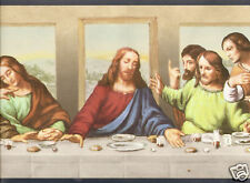 "RELIGIOUS ""THE LAST SUPPER"" blue Wallpaper bordeR Wall"