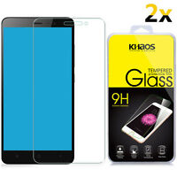 2x KHAOS Premium Tempered Glass Screen Protector For Xiaomi Redmi Note 3