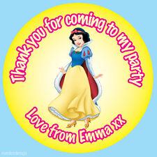 35 X Pegatinas Personalizada Blancanieves Princesa Fiesta De Cumpleaños Bolsa gracias -281