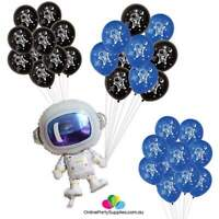 """30"""" Giant Rocket Ship Balloon Outer Space Birthday Party Space Shuttle Planets"""