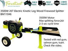 3500W 26T Electric Kinetic Log Splitter Wood Firewood Block Cutter Fast Splitter