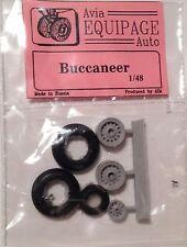 EQC48042 Equipage 1/48 Rubber Wheels for Blackburn Buccaneer RN strike aircraft