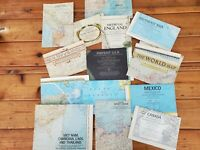 National Geographic Magazine Vintage Maps Lot Of 14 Assorted Areas Of The World