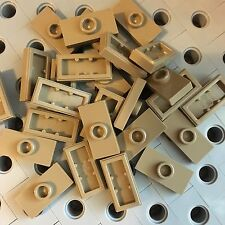 Lego New Lot Of 25 Plate Tile Dark Tan 1 x 2 with Knob Groove Centre Stud Jumper