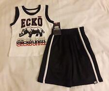 Boys Toddler ECKO 2pc Tank Short Set 2t Black