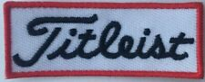"2 3/8"" x 7/8"" Titleist Golf White Logo Iron On Patch Embroidered Sew on/Iron on"