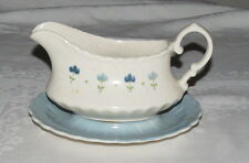 Vernon Kilns True Blue Gravy Sauce Server with attached Plate