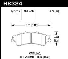 Disc Brake Pad Set-LT Rear Hawk Perf HB324Y.673