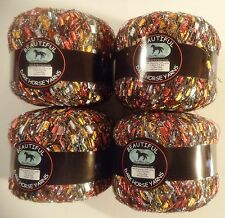 "4 BALLS METALLIC ""BEAUTIFUL"" LADDER TRELLIS YARN- B105 - DARK HORSE YARNS >"