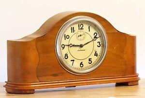 Vintage VLADIMIR mantel table RARE collectible USSR Soviet mechanical clock