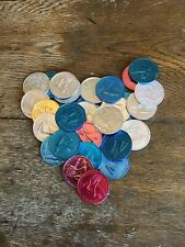 Lot of 31 Krewe of Pandora Doubloons Mardi Gras New Orleans Coins 1970-1985