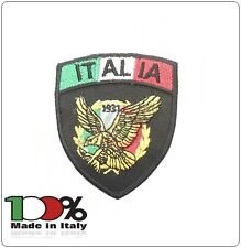 Patch Toppa Scudetto con Velcro Ricamato ITALIA + LOGO GPG IPS Art.IT-GPGIPS