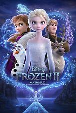 Frozen 2 Movie Poster (24x36) - Anna, Elsa, Olaf, Kristoff, Bell, Menzel, Gad v2