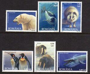 Romania 2007 Polar Fauna set fine fresh MNH