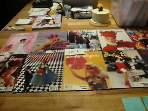 10 Barbie Bazaar Collector's Magazines from 1989 and 1990