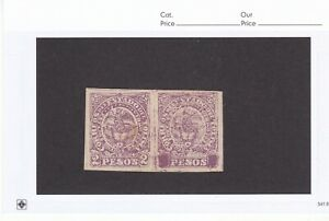 Colombia States Tolima #53 Mint OG Pair with One Stamp Covered Values