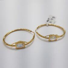 9ct Yellow Gold Hoop Earrings Cubic Zirconia | 5.7 Grams | Brand New Instore