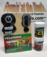 PEGATANKE High-Temp BLACK EPOXY 1.48oz 2-pt kit, Hard & Super-strong! USA SELLER