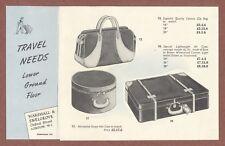 "Marshall & Snelgrove  Shop, London c 1950s,  ""Travel Needs"",  Cases  Bags  JX577"