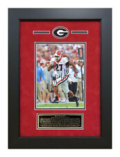 Nick Chubb Georgia Bulldogs Signed 8x10 Framed Rose Bowl 3rd QTR TD Photo w COA