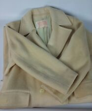 Vintage Pendleton. Women Size 10 Virgin Wool Tan Trench Coat USA Double Breasted