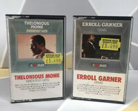 "Erroll Garner Gems ""I Love Jazz"" + The lonious Monk Greatest Hits Cassette Tapes"