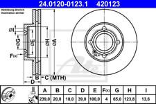 2x Bremsscheibe für Bremsanlage Vorderachse ATE 24.0120-0123.1