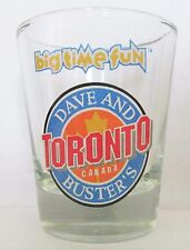 """DAVE AND BUSTER'S  TORONTO, CANADA  """"BIG TIME FUN""""    SHORT SHOT GLASS"""