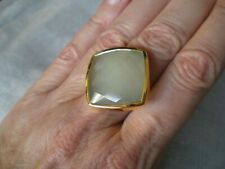 Aqua Chalcedony ring, size N/O, 28.28 carats, 6.63 grams of 925 Sterling Silver