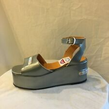 London Underground Silver Platform Wedges