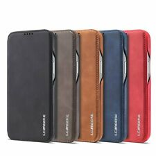 Samsung Note 8 S8+ iPhone X Etui Luxe Cuir Portefeuille Carte Stand Housse Coque