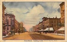 Grand Rapids Michigan~Canal Street~The Giant Clothing Store~Light Bulb Sign~1912