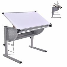 Tiltable Drawing Desk Board Drafting Art Crafting Table Adjustable Drawers Kids