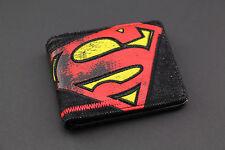 SUPERMAN Uomo Wallet Retrò DC COMIC BOOK