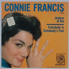 CONNIE FRANCIS: Jealous of You 45 SLEEVE ONLY PS Teen MGM VG+