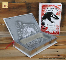 Hollow Book Safe - Jurassic Park - The Lost World - Leather Bound Book Safe