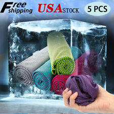 5 Pack Cooling Towel Ice Towel Neck Wrap For Sports Running Jogging Gym Chilly