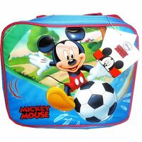 NEW 100% Official Disney Boys Mickey Mouse Insulated Raised Front Lunch Bag