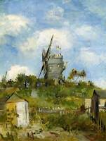 VINCENT VAN GOGH BLUT FIN WINDMILL OLD MASTER ART PAINTING PRINT POSTER 2771OMB