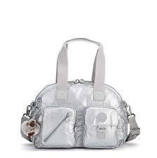 Brand New w/Tags! Kipling Defea Handbag Shoulder Bag Crossbody Platinum Metallic