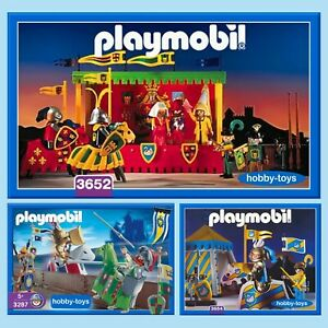 Playmobil * KNIGHTS TOURNAMENT 3287 3652 3654 * Spares * SPARE PARTS SERVICE *