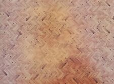 Dollhouse Miniature Parquet Wood Flooring Paper Card Stock Glossy 1:12 Scale