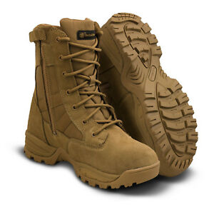 """Smith & Wesson Breach 2.0 Waterproof 8"""" Side Zip Boot Coyote"""