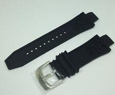 Invicta Subaqua Noma III Black Silicone Rubber Band Strap Bracelet