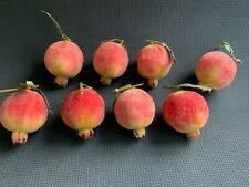 8 Pomegranates Sugar Frosted Artificial Fruit