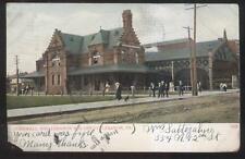 Postcard Pennsylvania/Pa Cornwall & Lebanon Railroad Train Depot Station 1906