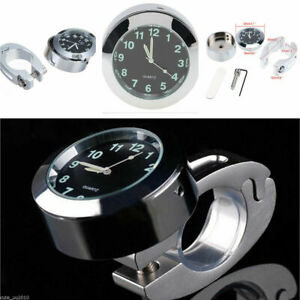 "Universal 7/8"" - 1"" Bike Motorcycle Motorbike Handlebar Mount Waterproof Clock"