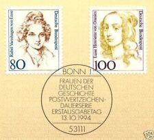 BRD 1994: Frauenmarken Nr. 1755+1756 mit Bonner Ersttagssonderstempel! 1A!