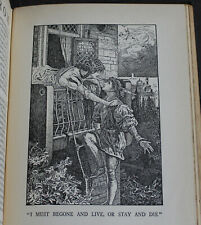 Rare Antique Old Book Romeo & Juliet, Hamlet, + 1918 1st Edition Illustrated